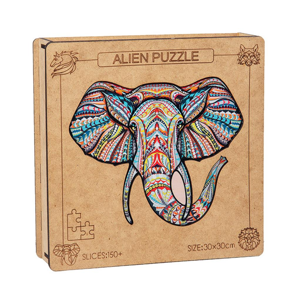 other-learning-office-supplies A3 3D Wooden Animal Pattern Puzzle Colorful Mysterious Charming Early Education Puzzle Art Toys Gifts for Childrens Adults HOB1816614 3 1