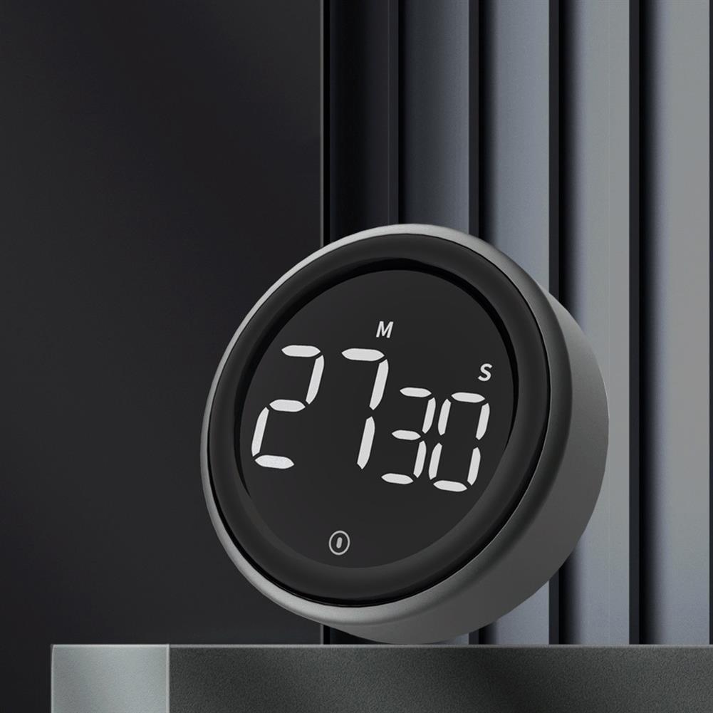 desktop-off-surface-shelves LED Digital Display Rotating Timer Brightness Adjustable Magnetic Multifunction Portable Alarm Clock Kitchen office Study Supplies HOB1817086 2 1