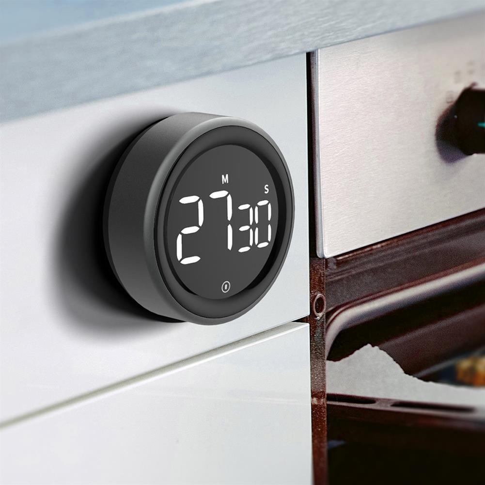 desktop-off-surface-shelves LED Digital Display Rotating Timer Brightness Adjustable Magnetic Multifunction Portable Alarm Clock Kitchen office Study Supplies HOB1817086 3 1