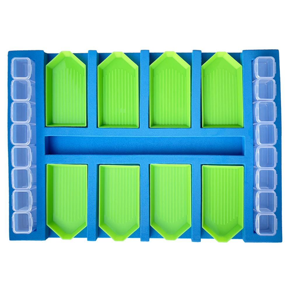 art-kit DIY Diamond Painting Tray Sponge Combination Storage Tray Painting Handmade Accessories Stationery Craft Art Kit Supplies HOB1817289 1 1