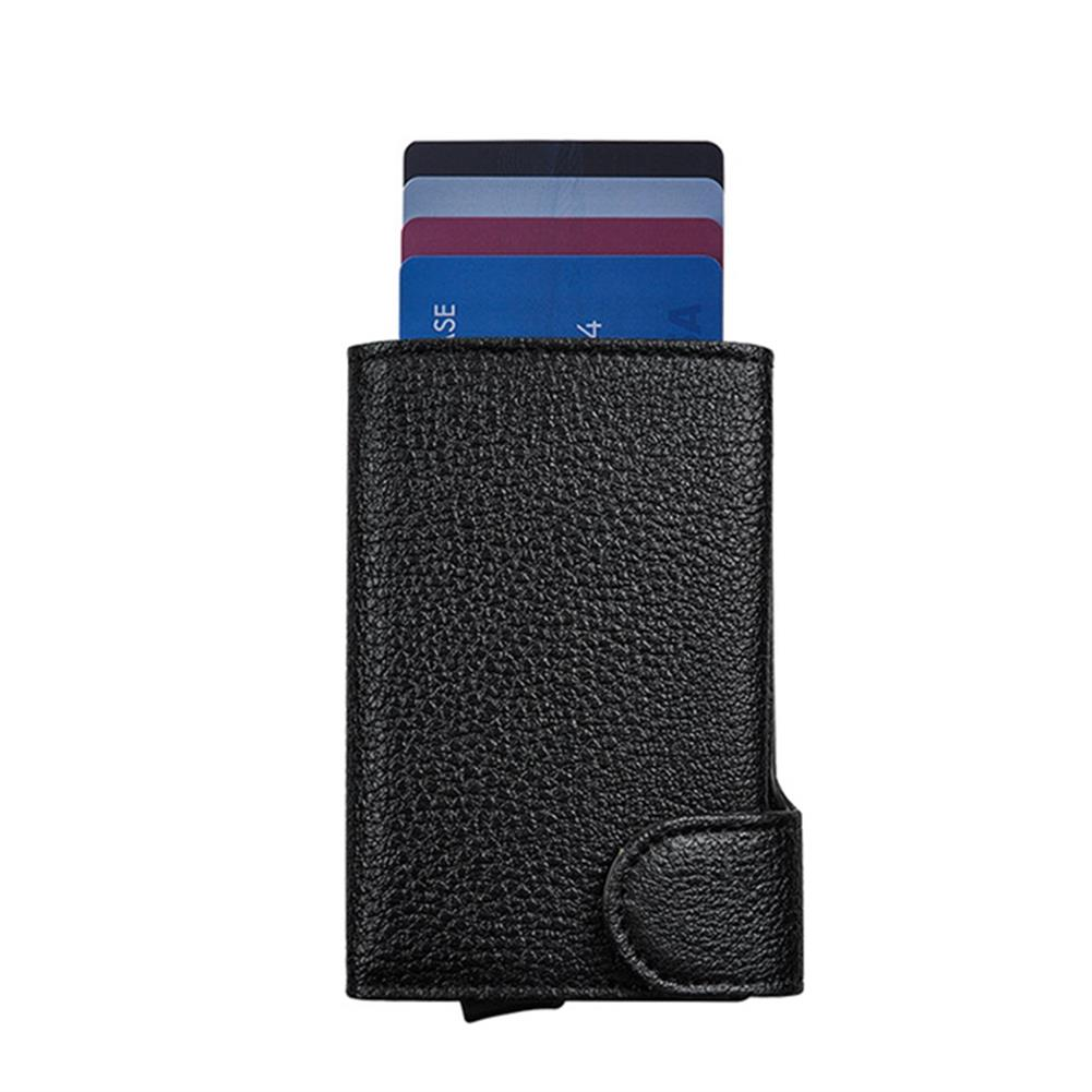 business-card-book BOSHIONCASE Card Wallet Slim RFID Portable Anti-degassing Business Card Holder Leather Card Case ID Credit Card Storage Box office Supplies HOB1818062 1
