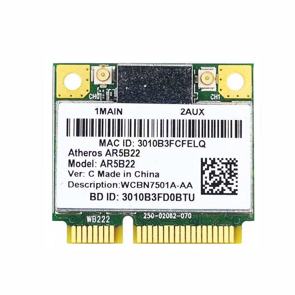 network-cards Dual band 2.4G/5G Atheros AR5B22 AR9462 WI-Fi Wireless 300Mbps Half Mini PCIE WiFi + BT 4.0 bluetooth 4.0 COMBO Lan Network card HOB1818532 1