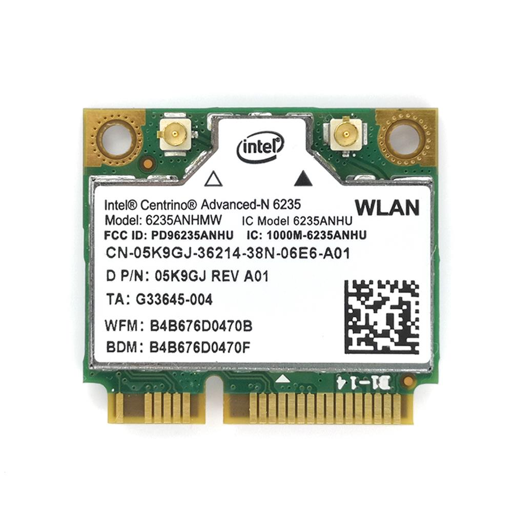 network-cards Wireless Lan Card for intel Centrino Advanced-N 6235 6235ANHMW 6235AN bluetooth 4.0 Mini PCI-E 2.4G/5Ghz Wlan+BT 4.0 05K9GJ HOB1818563 1