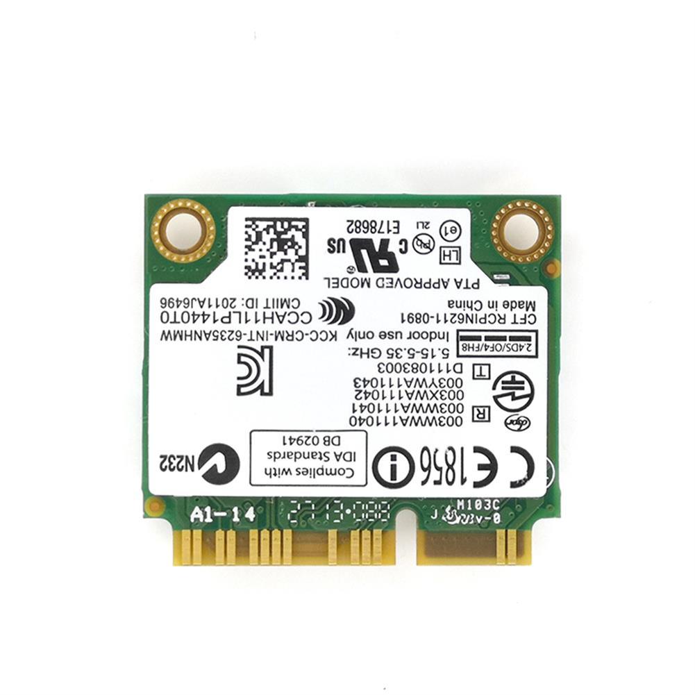 network-cards Wireless Lan Card for intel Centrino Advanced-N 6235 6235ANHMW 6235AN bluetooth 4.0 Mini PCI-E 2.4G/5Ghz Wlan+BT 4.0 05K9GJ HOB1818563 1 1