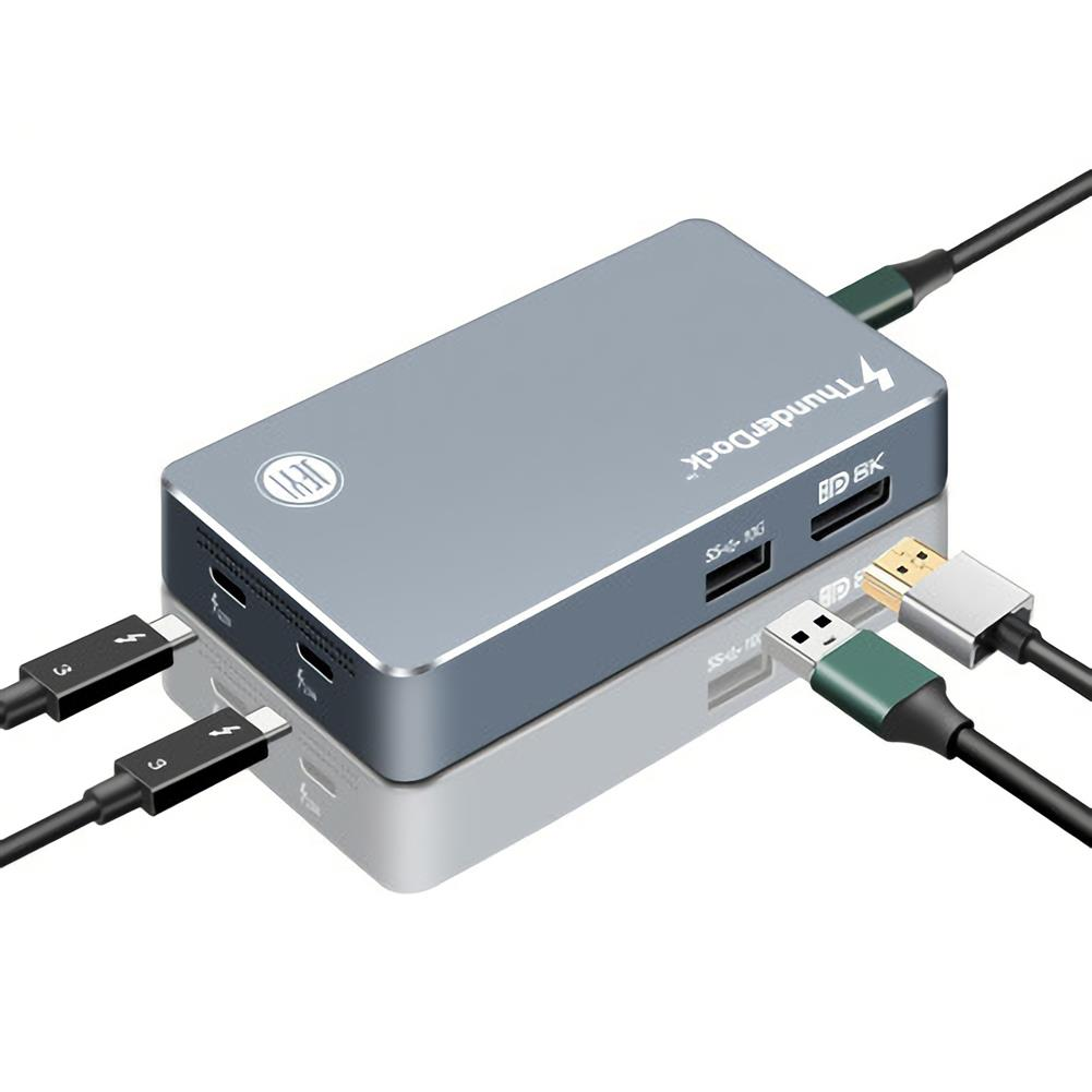 usb-hubs JEYI ThunderDock 5 in 1 Multifunctional Mini USB Hub JHL7440 USB C3.1 Dock m2 M.2 PCIE SSD DP8K HOB1819382 1