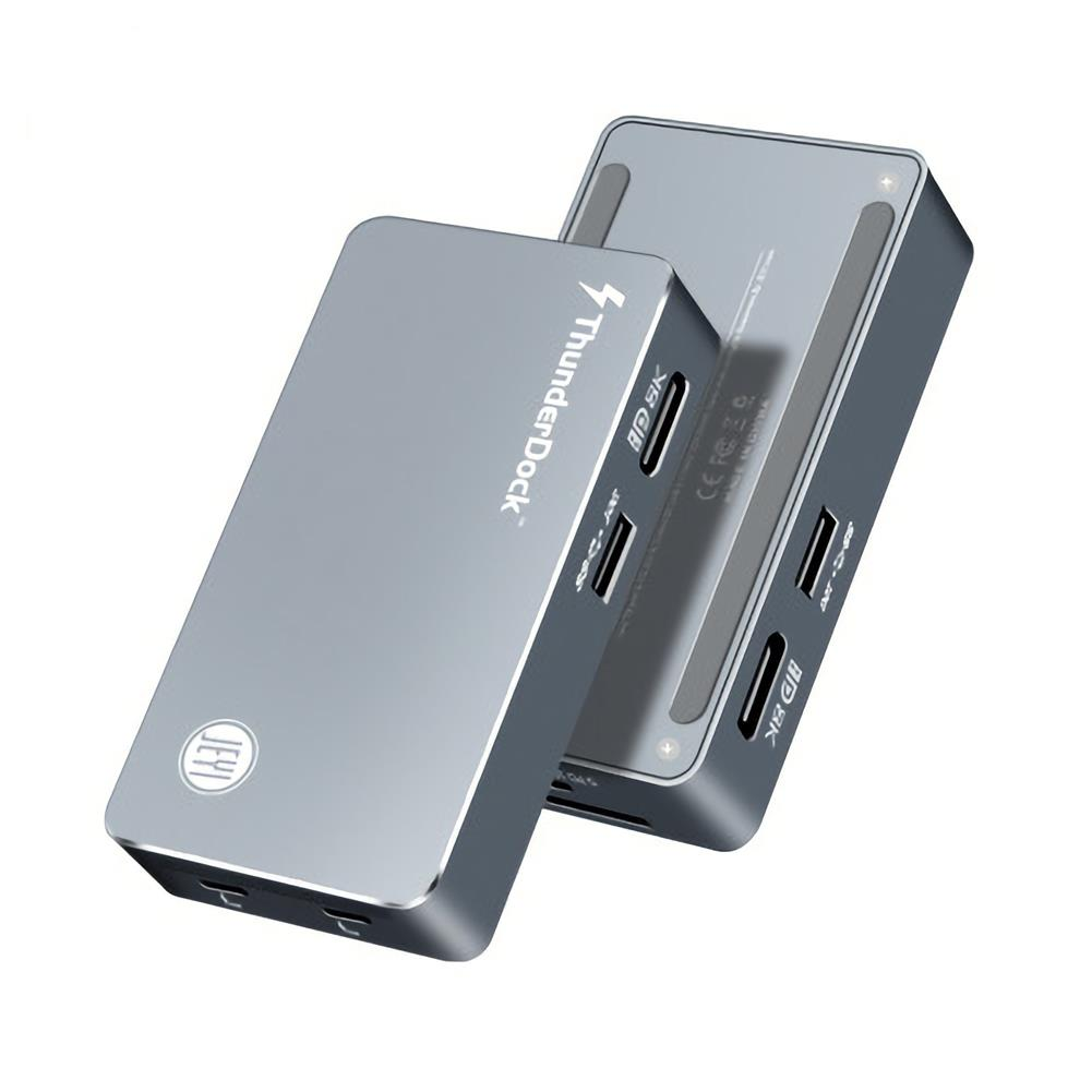 usb-hubs JEYI ThunderDock 5 in 1 Multifunctional Mini USB Hub JHL7440 USB C3.1 Dock m2 M.2 PCIE SSD DP8K HOB1819382 1 1