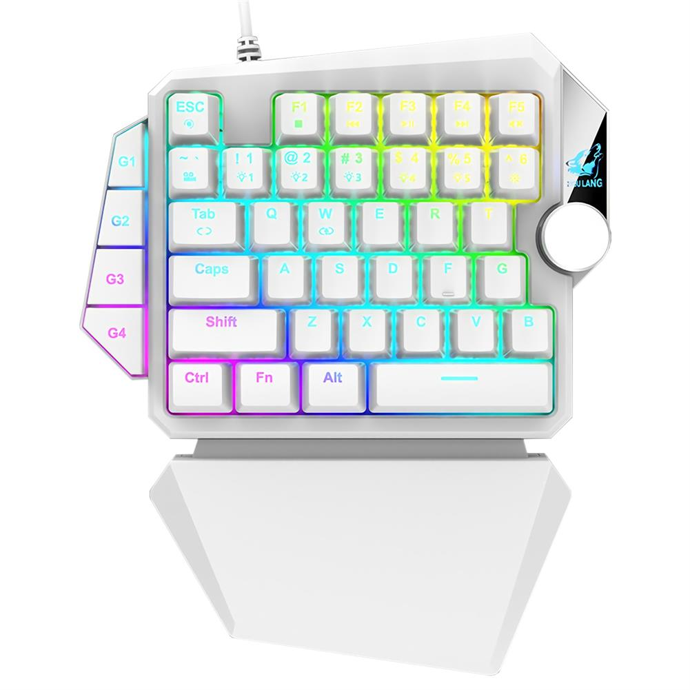 keyboards ZIYOULANG K5 Wired one-hand Mechanical Keyboard 39 Keys Blue Switch RGB Single Hand Gaming Keyboard for PS4 Computer PC Laptop HOB1820350 1 1
