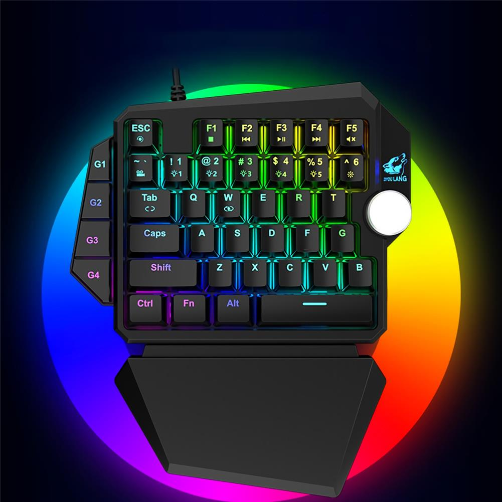 keyboards ZIYOULANG K5 Wired one-hand Mechanical Keyboard 39 Keys Blue Switch RGB Single Hand Gaming Keyboard for PS4 Computer PC Laptop HOB1820350 2 1