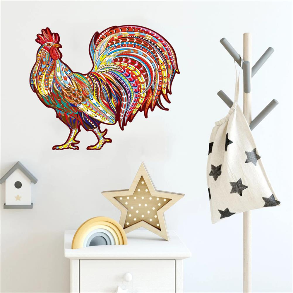 other-learning-office-supplies A3/A4/A5 3D Wooden Animal Pattern Puzzle Cock Irregular Jigsaw Puzzles Early Education Puzzle Art Toys Gifts for Childrens Adults HOB1820386 3 1