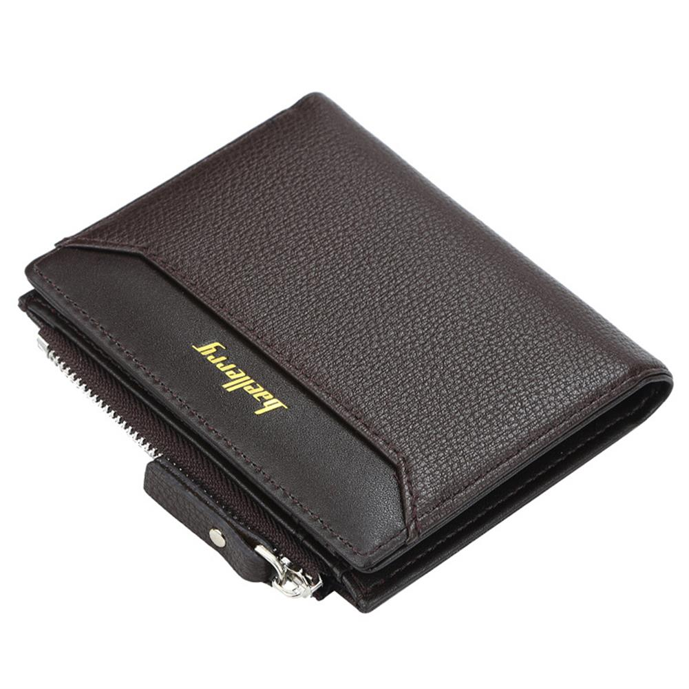 business-card-book Baellerry DR023 Business Card Holder Wallets for Men Multi Card Hole Portable Short Style Business ID Credit Card Storage Creative Gifts HOB1820767 1 1