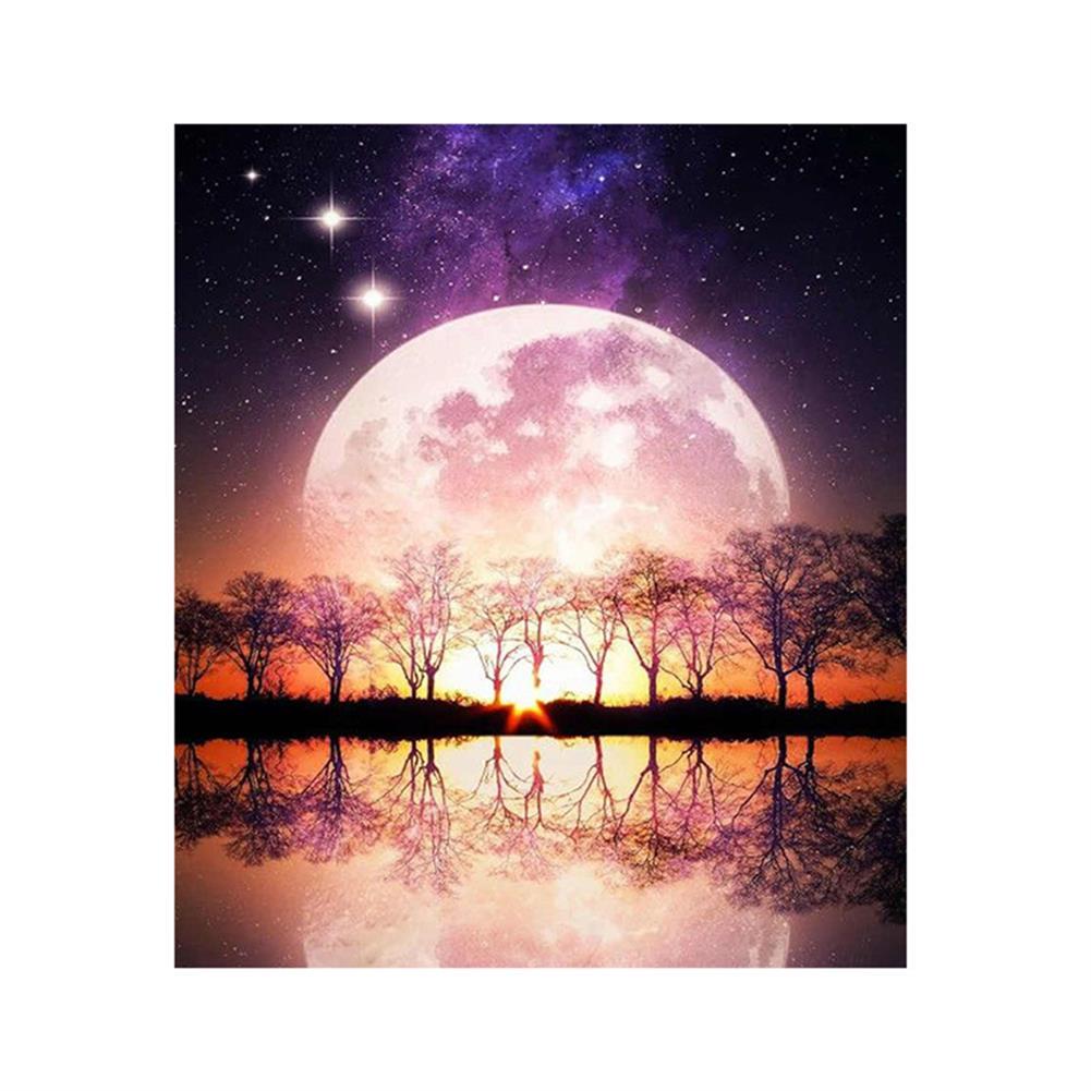 art-kit DIY 5D Resin Diamond Painting Moonlight Landscape Diamond Embroidery Cross Stitch Kits Home Decor Creative Gifts HOB1822472 1