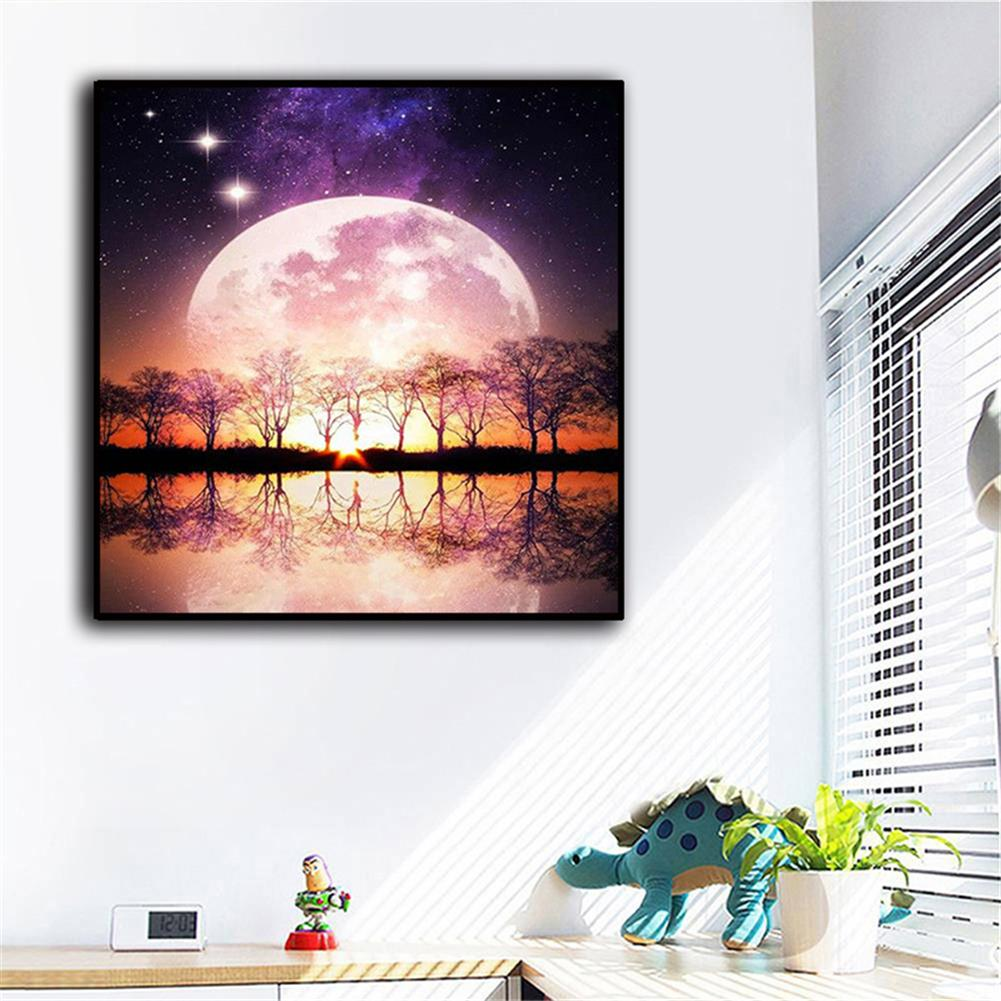 art-kit DIY 5D Resin Diamond Painting Moonlight Landscape Diamond Embroidery Cross Stitch Kits Home Decor Creative Gifts HOB1822472 1 1