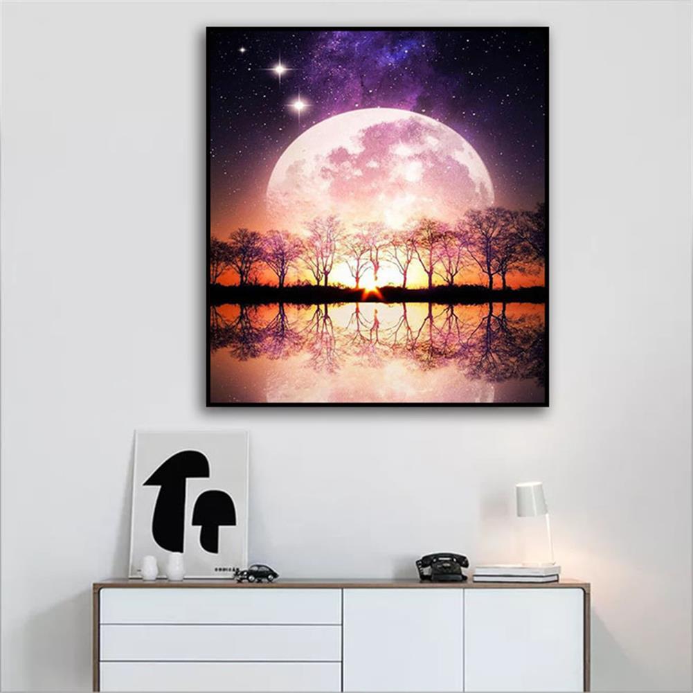 art-kit DIY 5D Resin Diamond Painting Moonlight Landscape Diamond Embroidery Cross Stitch Kits Home Decor Creative Gifts HOB1822472 3 1