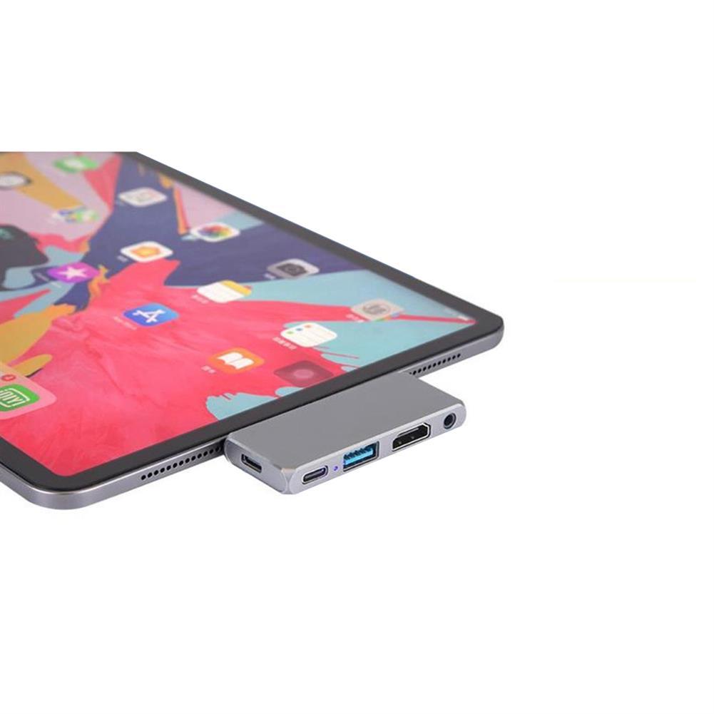 usb-hubs NFINT 180 Type-C Docking Station 4K@30Hz HDMI-compatible USB Hub USB3.0 3.5mm Plug for Switch Phone PC Laptop Pad HOB1824455 2 1