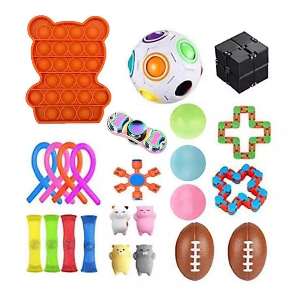 other-learning-office-supplies Fidget Toys Sensory Set Anti Stress Relief Fidget Bubble Toys Decompression Artifact Hand Toys for Kid Adults HOB1825138 1 1