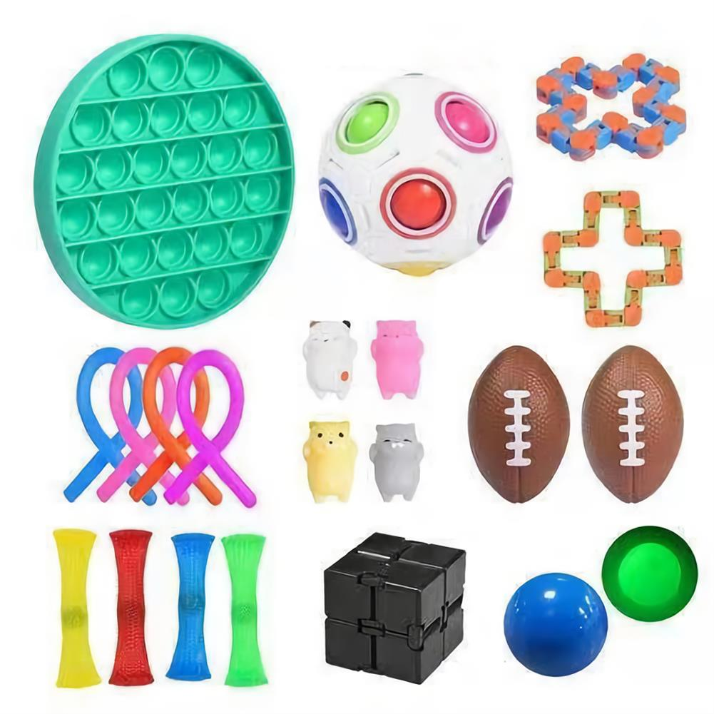 other-learning-office-supplies 21/30pcs Fidget Toys Sensory Set Anti Stress Fidget Bubble Toys Decompression Artifact Hand Puzzle Toys for Kid Adults HOB1825164 1 1