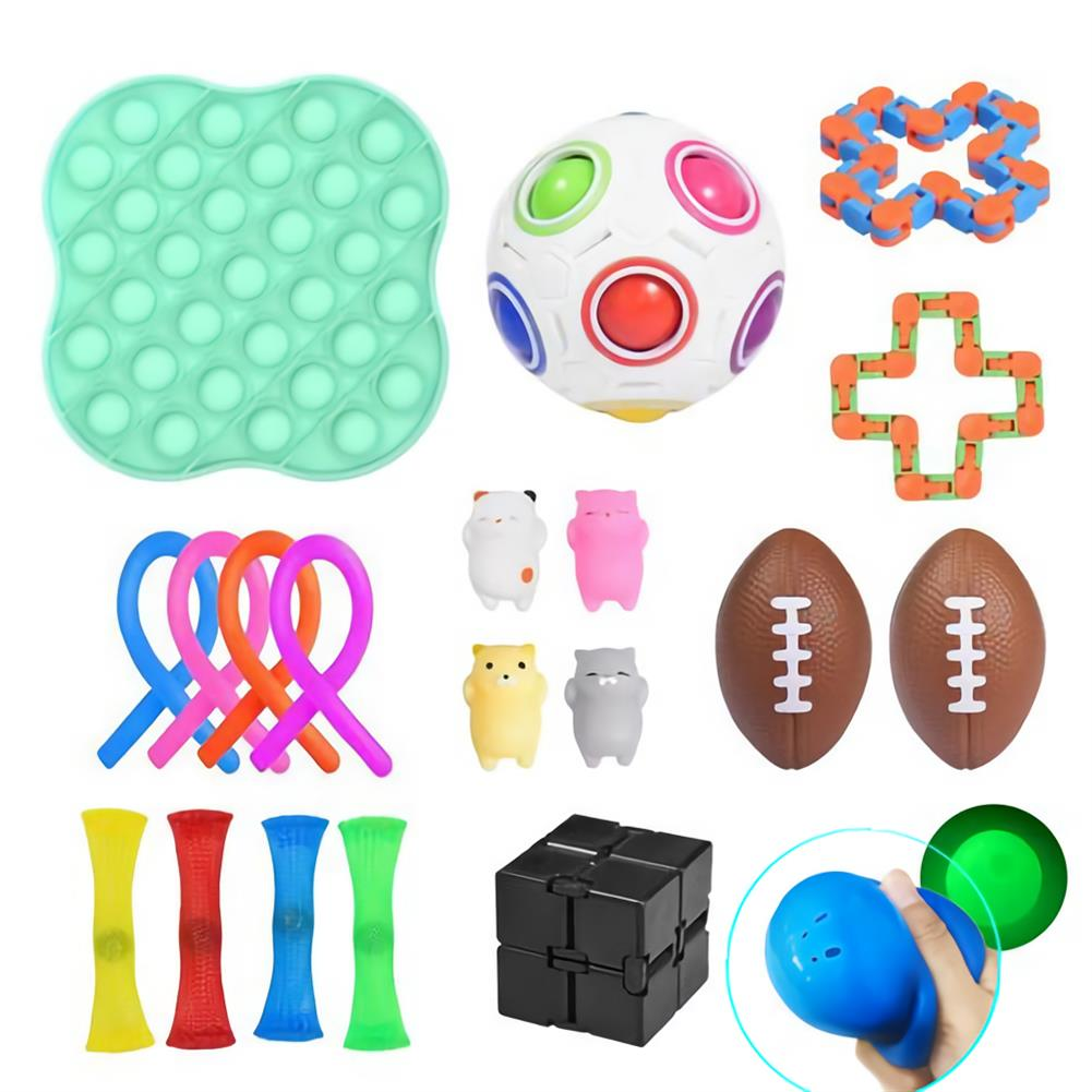 other-learning-office-supplies 21/30pcs Fidget Toys Sensory Set Anti Stress Fidget Bubble Toys Decompression Artifact Hand Puzzle Toys for Kid Adults HOB1825164 2 1