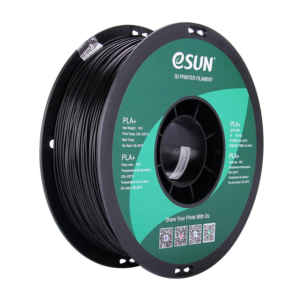 3d-printer-filament eSUN PLA+ Filament 1KG 1.75mm Vacuumed Sealed Package Dimensional Accuracy +/- 0.03mm for 3D Printing HOB1825663 1 1