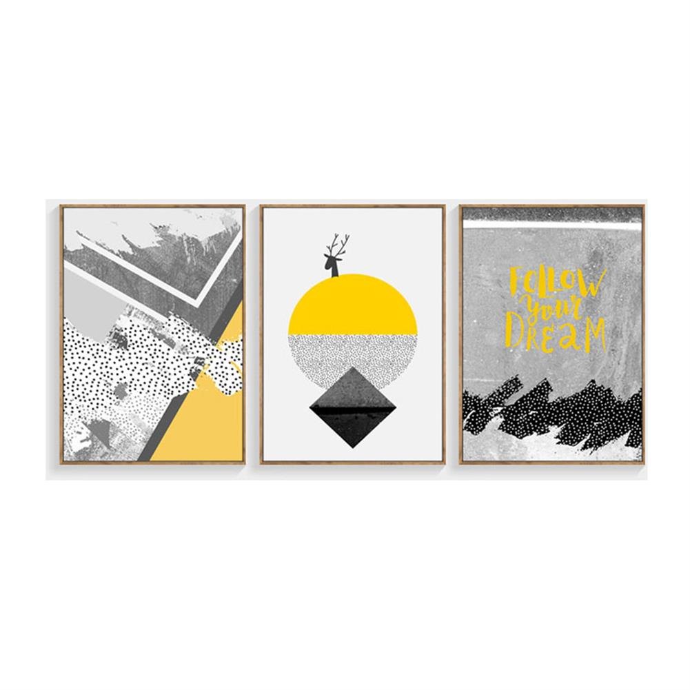 other-learning-office-supplies 3pcs High Definition Painting Wall Painting Abstract Decorative Painting Unframed Living Room office Wall Decoration HOB1827563 1