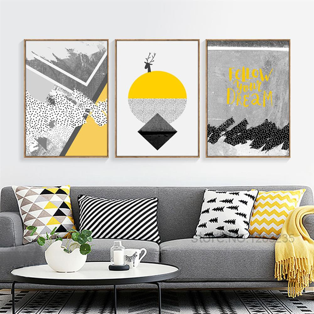 other-learning-office-supplies 3pcs High Definition Painting Wall Painting Abstract Decorative Painting Unframed Living Room office Wall Decoration HOB1827563 1 1