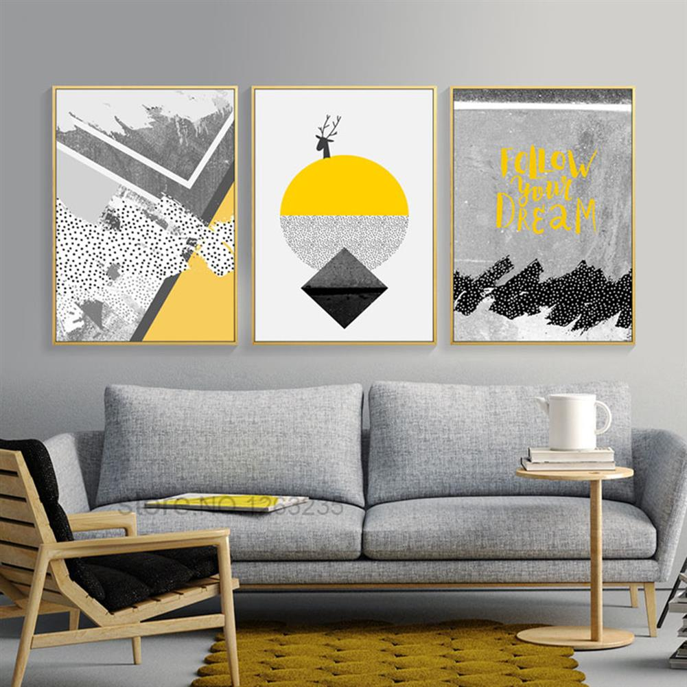 other-learning-office-supplies 3pcs High Definition Painting Wall Painting Abstract Decorative Painting Unframed Living Room office Wall Decoration HOB1827563 2 1
