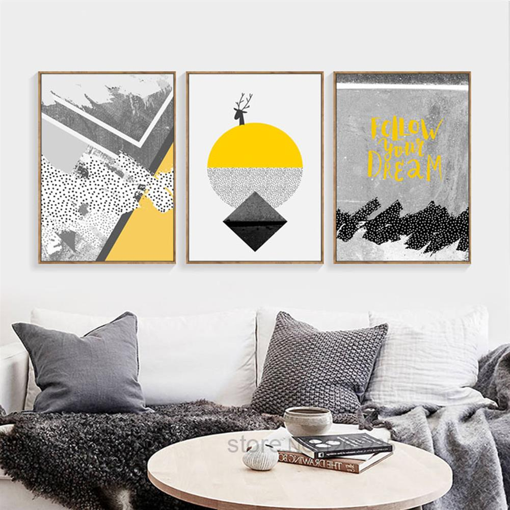 other-learning-office-supplies 3pcs High Definition Painting Wall Painting Abstract Decorative Painting Unframed Living Room office Wall Decoration HOB1827563 3 1