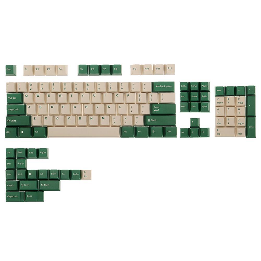 keycaps-switches FEKER 123 Keys Emerald forest Keycap Set OEM Profile PBT Sublimation Keycaps for Mechanical Keyboards HOB1827878 1