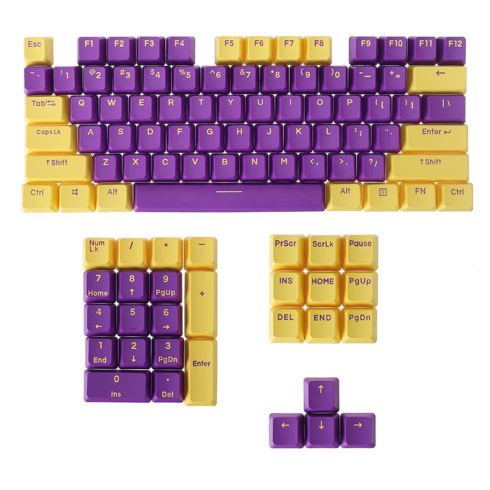 keycaps-switches FEKER 104 Keys Midnight Golden Keycap Set OEM Profile PBT Doubleshot 2-color injection Keycaps for Mechanical Keyboards HOB1827910 1
