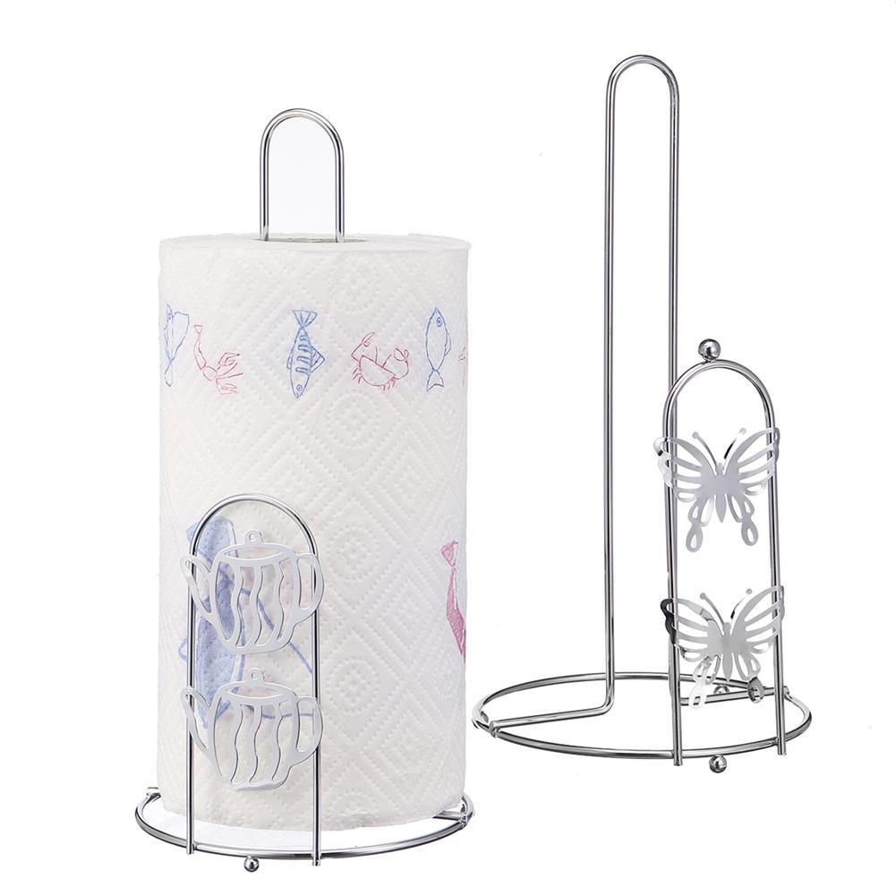 desktop-off-surface-shelves Metal Vertical Paper Holder Aluminum Alloy Modern Euro Style Tissue Stand for Kitchen Bathroom HOB1828038 1 1