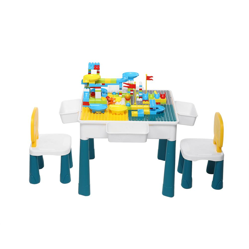 other-learning-office-supplies Childrens Plastic Table and Chair Set Educational Learning Game Table Early Education Block Assembly Toy Stationery Supplies HOB1828685 1
