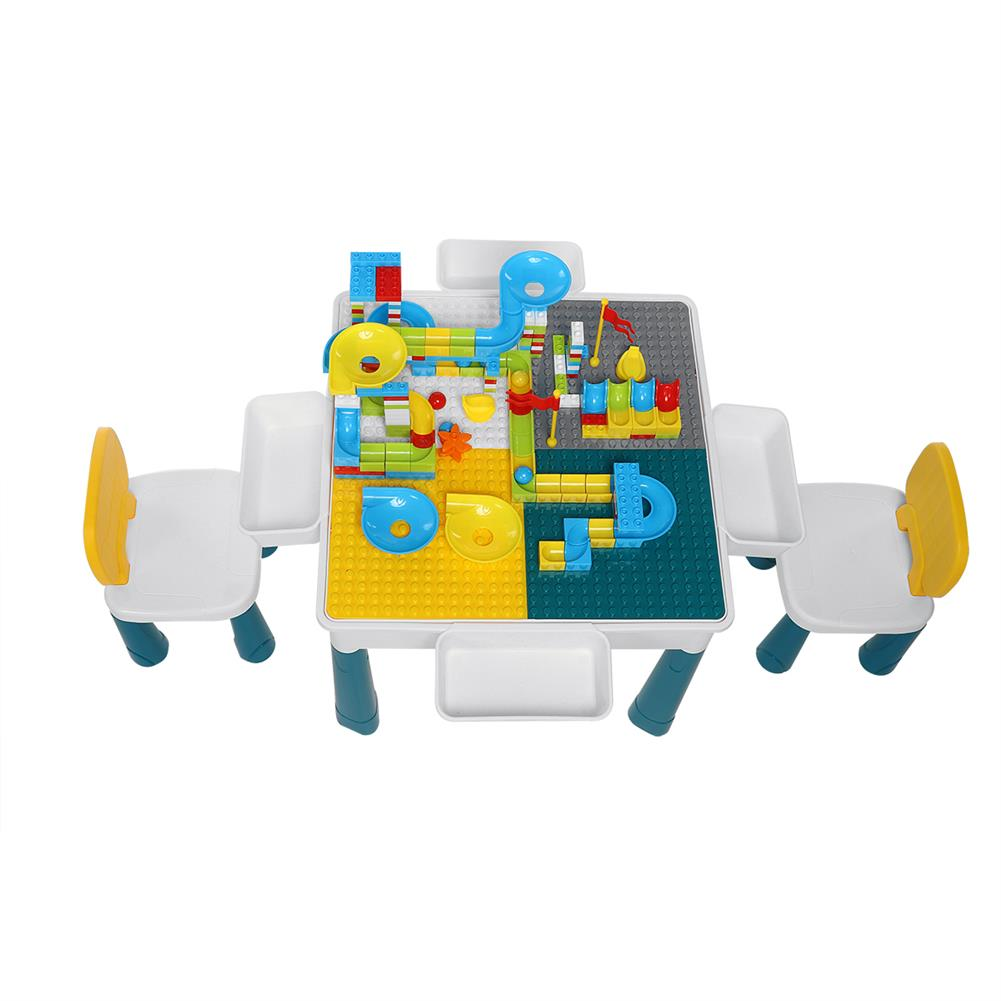 other-learning-office-supplies Childrens Plastic Table and Chair Set Educational Learning Game Table Early Education Block Assembly Toy Stationery Supplies HOB1828685 1 1