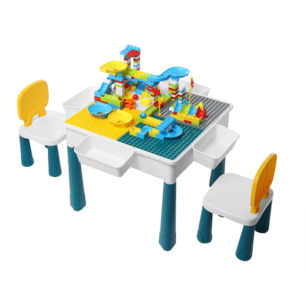 other-learning-office-supplies Childrens Plastic Table and Chair Set Educational Learning Game Table Early Education Block Assembly Toy Stationery Supplies HOB1828685 2 1