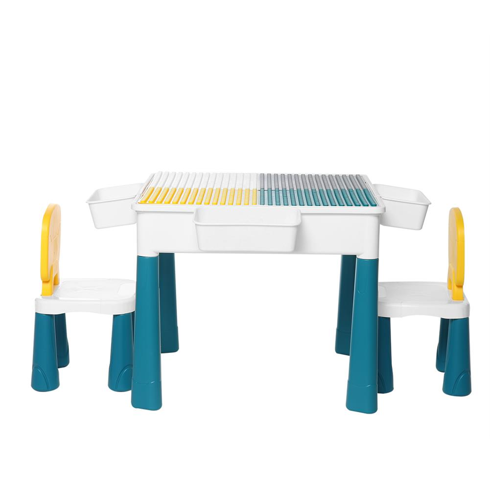 other-learning-office-supplies Childrens Plastic Table and Chair Set Educational Learning Game Table Early Education Block Assembly Toy Stationery Supplies HOB1828685 3 1
