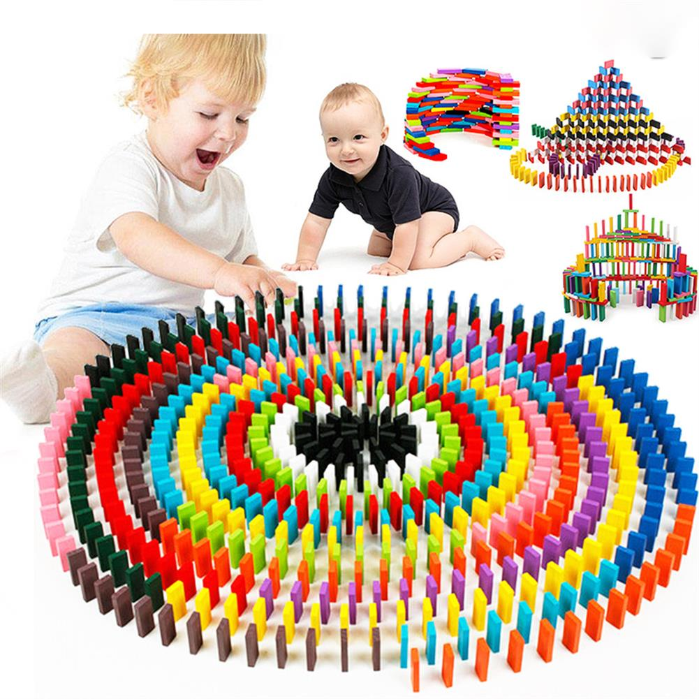 other-learning-office-supplies 240 pcs Wooden Domino Multicolor intelligence Development Early Education Puzzle Toys Creative Gifts for Childrens HOB1829435 1