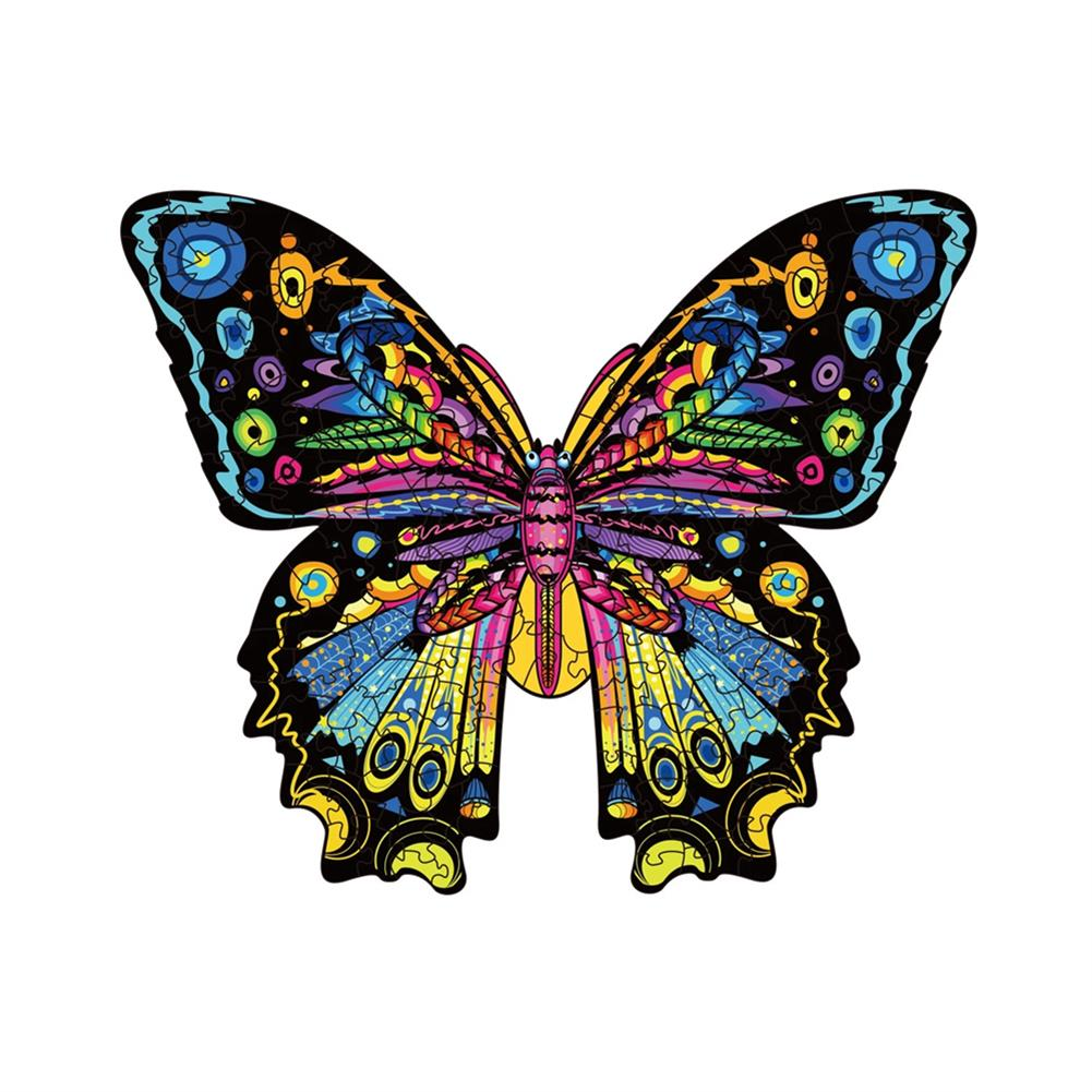 other-learning-office-supplies S/M/L 3D Wooden Butterfly Jigsaw Puzzle DIY Animal Shaped Toy Game Blocks Early Education Gift for Kid Children Adults Kids HOB1829478 1 1
