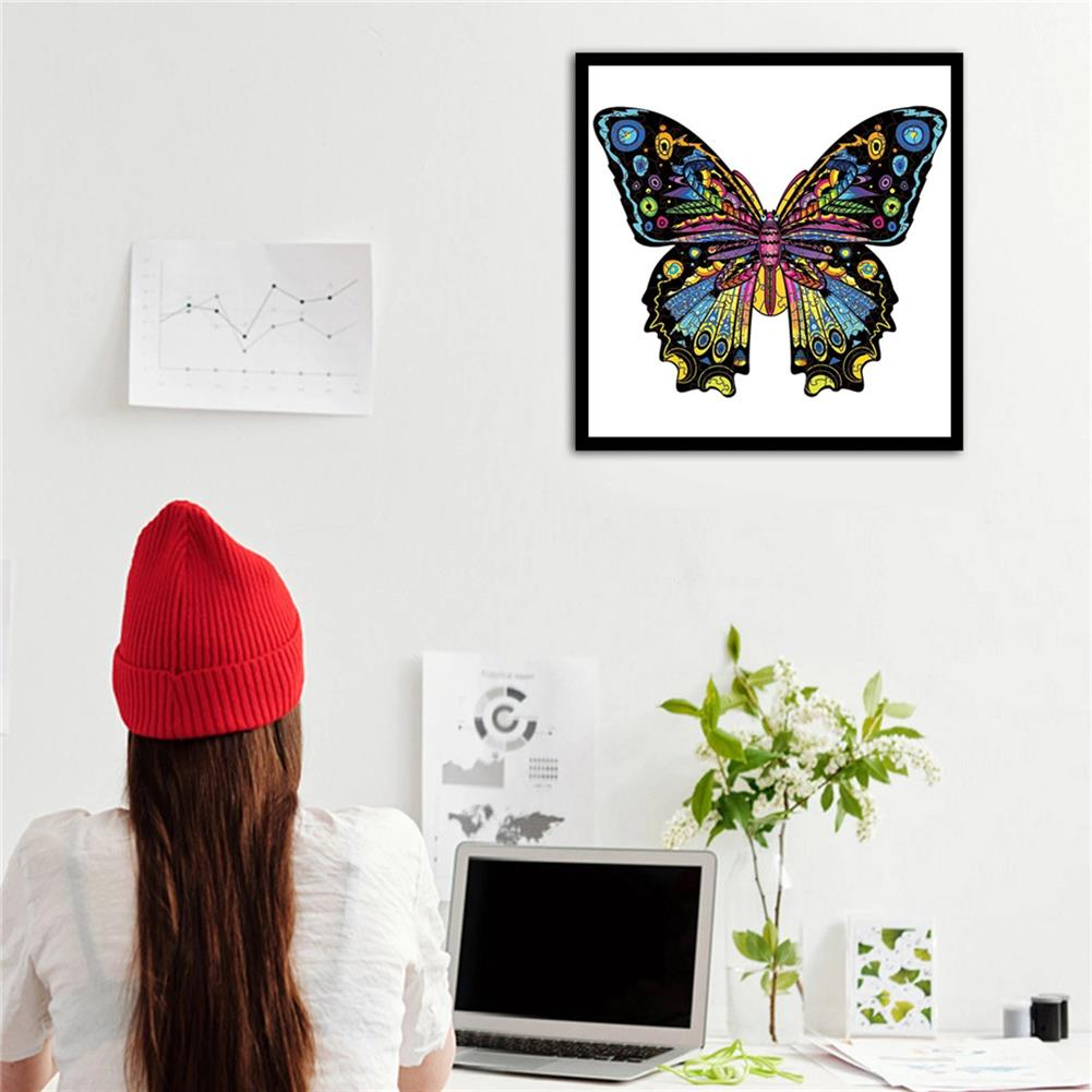 other-learning-office-supplies S/M/L 3D Wooden Butterfly Jigsaw Puzzle DIY Animal Shaped Toy Game Blocks Early Education Gift for Kid Children Adults Kids HOB1829478 2 1