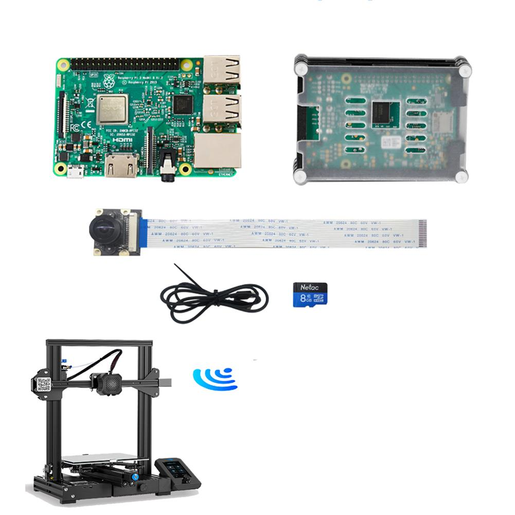 3d-printer-accessories Creality 3D Raspberry Pi 3rd Generation B with 9-layer Acrylic Case & Camera Kit Control 3D Printer online slicing/Real-time Camera Monitoring HOB1829889 1