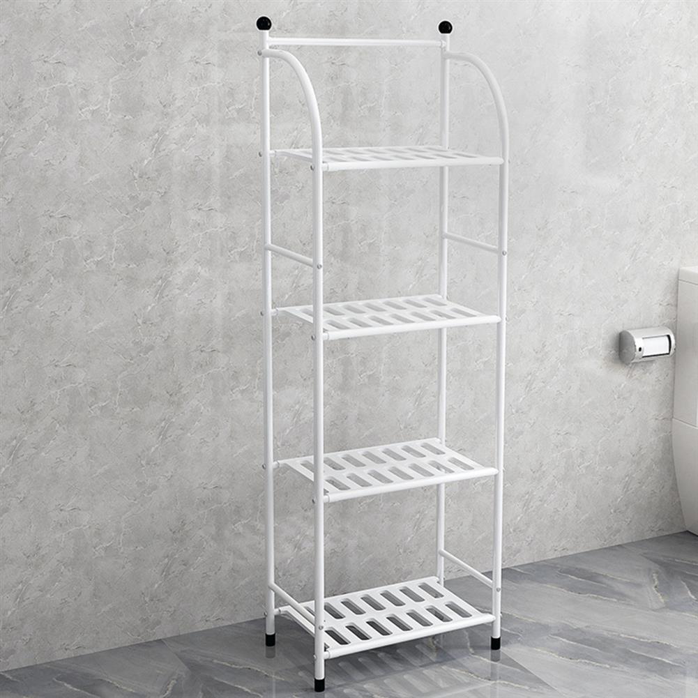 book-stands Storage Rack 4 Layers Iron Bathroom Corner Rack Toilet Kitchdn Bedroom Storage Rack Flower Stand HOB1829985 1