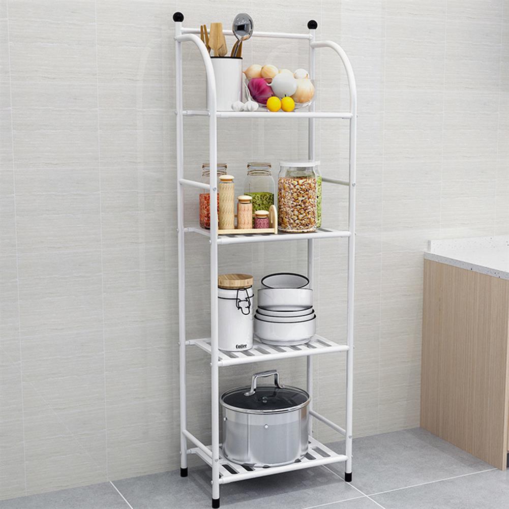 book-stands Storage Rack 4 Layers Iron Bathroom Corner Rack Toilet Kitchdn Bedroom Storage Rack Flower Stand HOB1829985 1 1