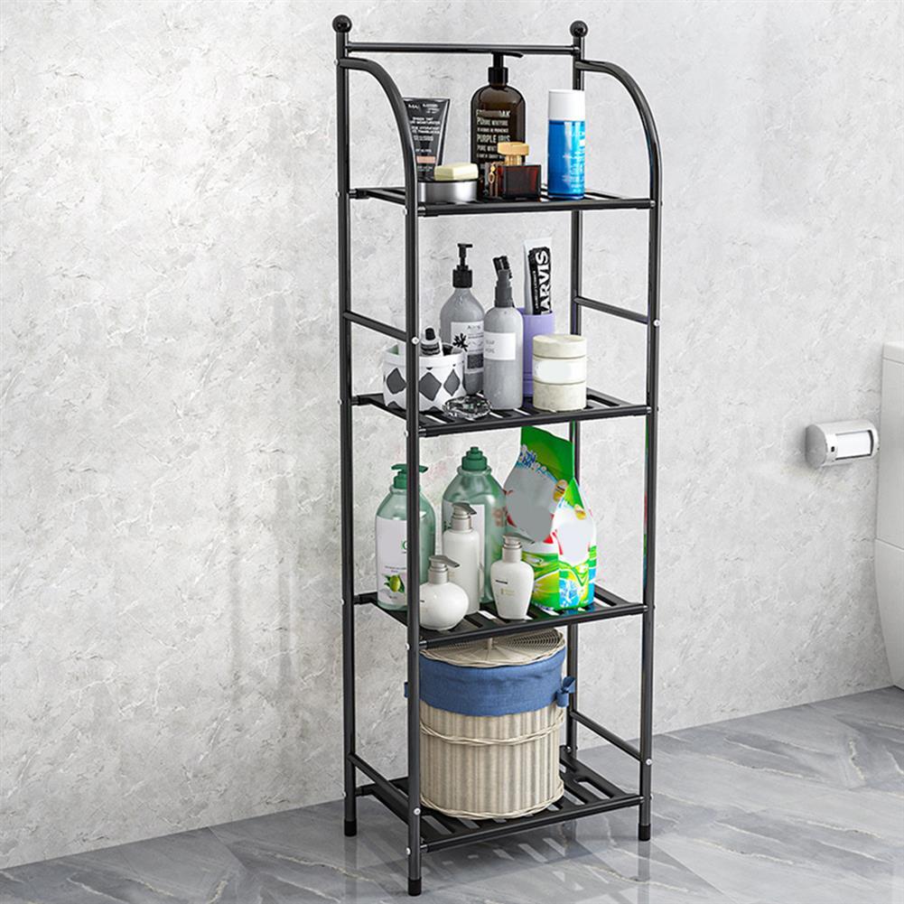 book-stands Storage Rack 4 Layers Iron Bathroom Corner Rack Toilet Kitchdn Bedroom Storage Rack Flower Stand HOB1829985 2 1