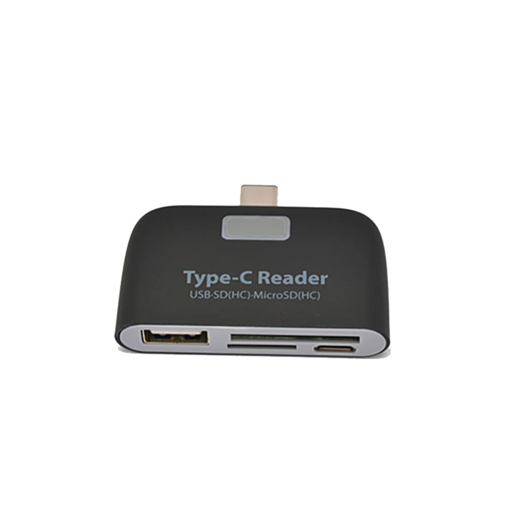 usb-hubs T-639 Type-c Card Reader Multi Card Reader for SD TF USB2.0 Cardreaders OTG Converter Type-c All-in-one Card Reader HOB1831098 1