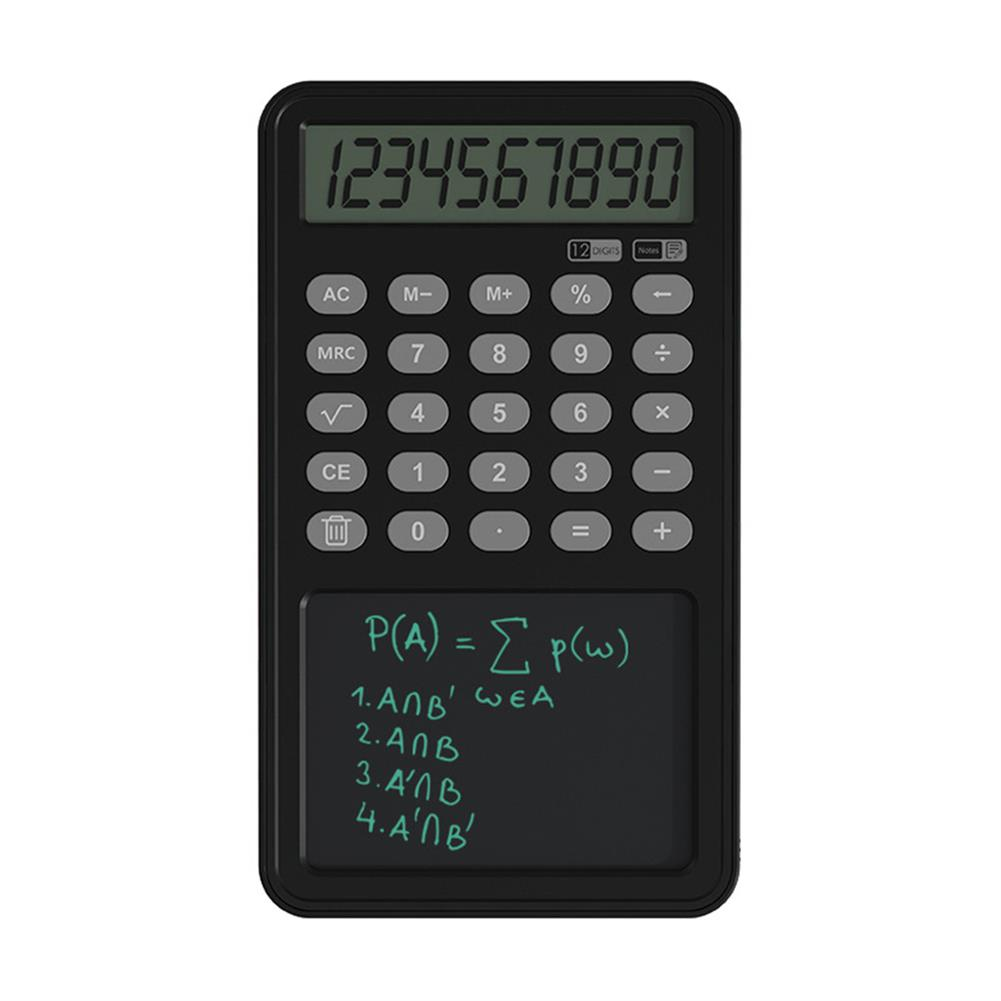 calculator 12 Digit Calculator with LCD Writing Board Left Hand Portable Drawing Draft Board office Finance Calculator for School and Working HOB1832039 1