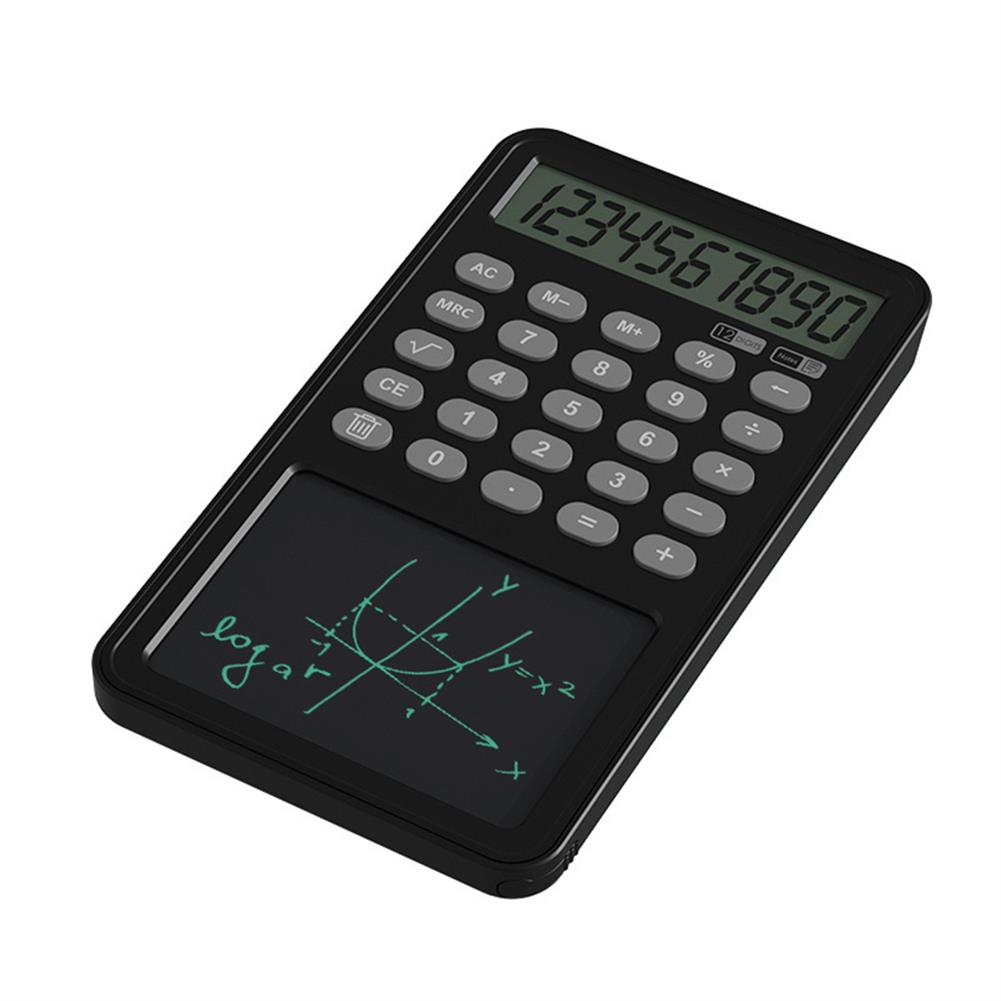 calculator 12 Digit Calculator with LCD Writing Board Left Hand Portable Drawing Draft Board office Finance Calculator for School and Working HOB1832039 1 1