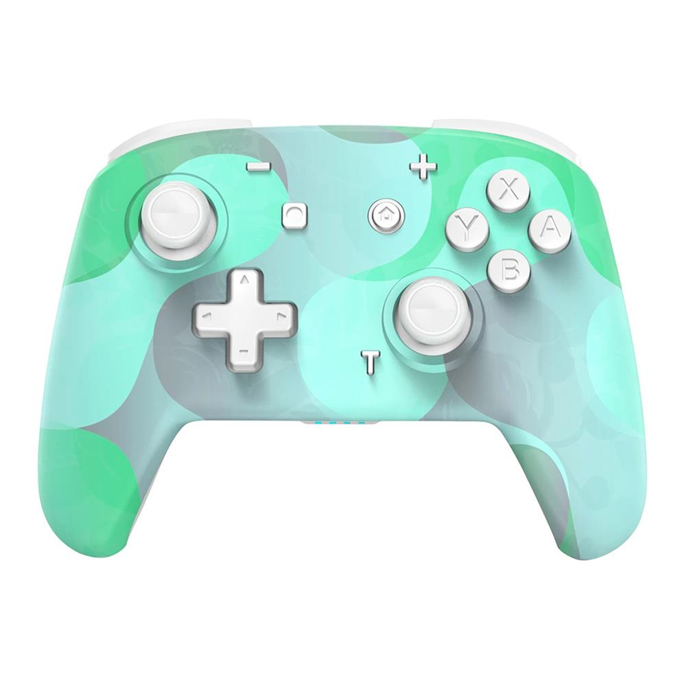 pc-gaming-controllers EasySMX YS06 Colorful Pink/Green bluetooth Controller Wireless Gampad 3 Adjustable Vibration 6-Axis Gyro Dual Shock Turbo for Nintendo Switch PC HOB1833566 1 1