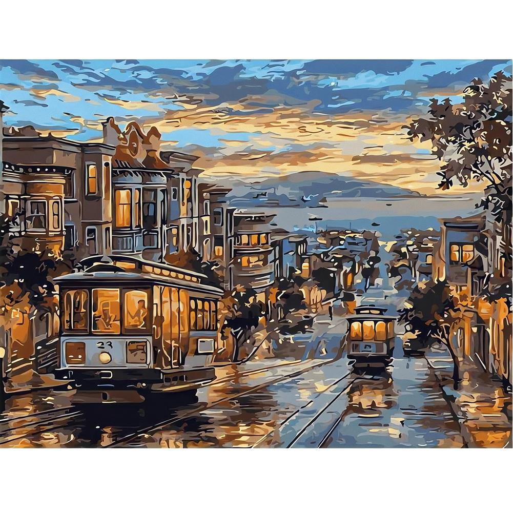 art-kit DIY Digital Oil Painting Frameless Canvas 40x50cm DIY Painted By Numbers with Pigment Set Beginner Sketching Art Students Supplies HOB1834944 1