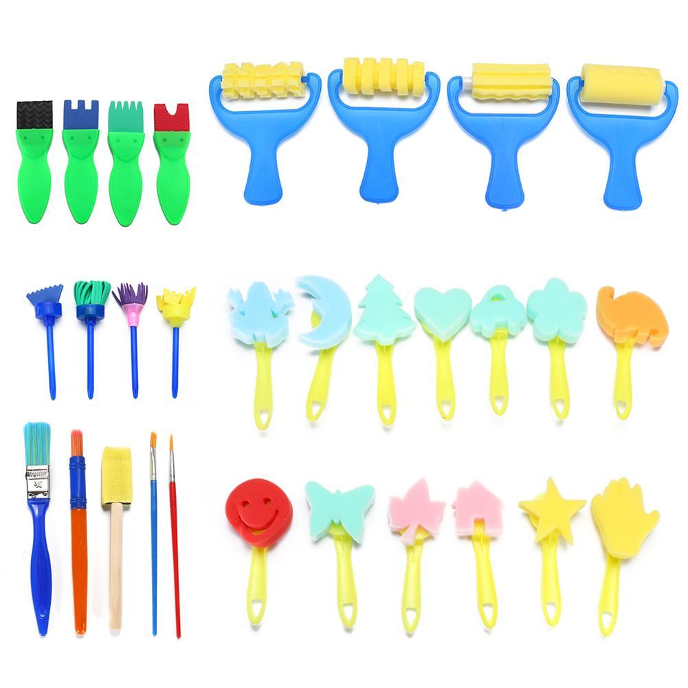 art-kit 30pcs Child Paint Roller DIY Painting Toys Sponge Brush Kit Set Graffiti Drawing Tools for Kids Early Education Develop hands-on Ability HOB1836475 1