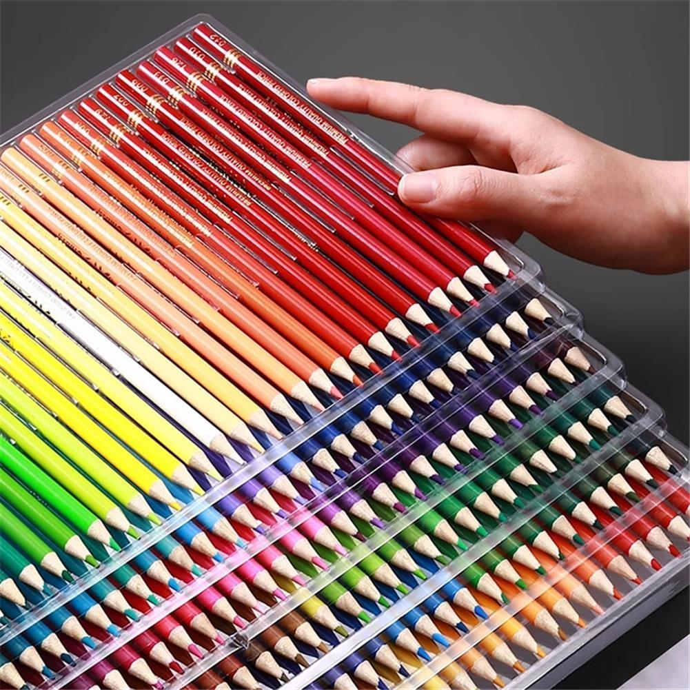 pencil 120/150/180 Color Pencil Set Oil Watercolor Wood Soft Color Pencil Filling Drawing Sketching Art Kit Stationery Supplies HOB1837014 1 1