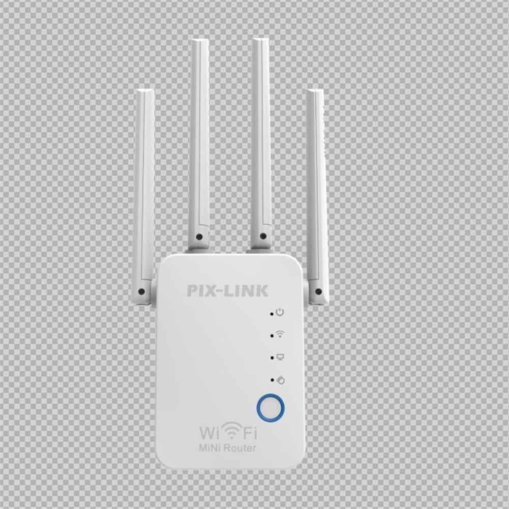repeaters PIXLINK 300M Wireless WiFi Repeater WiFi Extender 4 Antennas WPS WIFi Range Extension HOB1837760 1