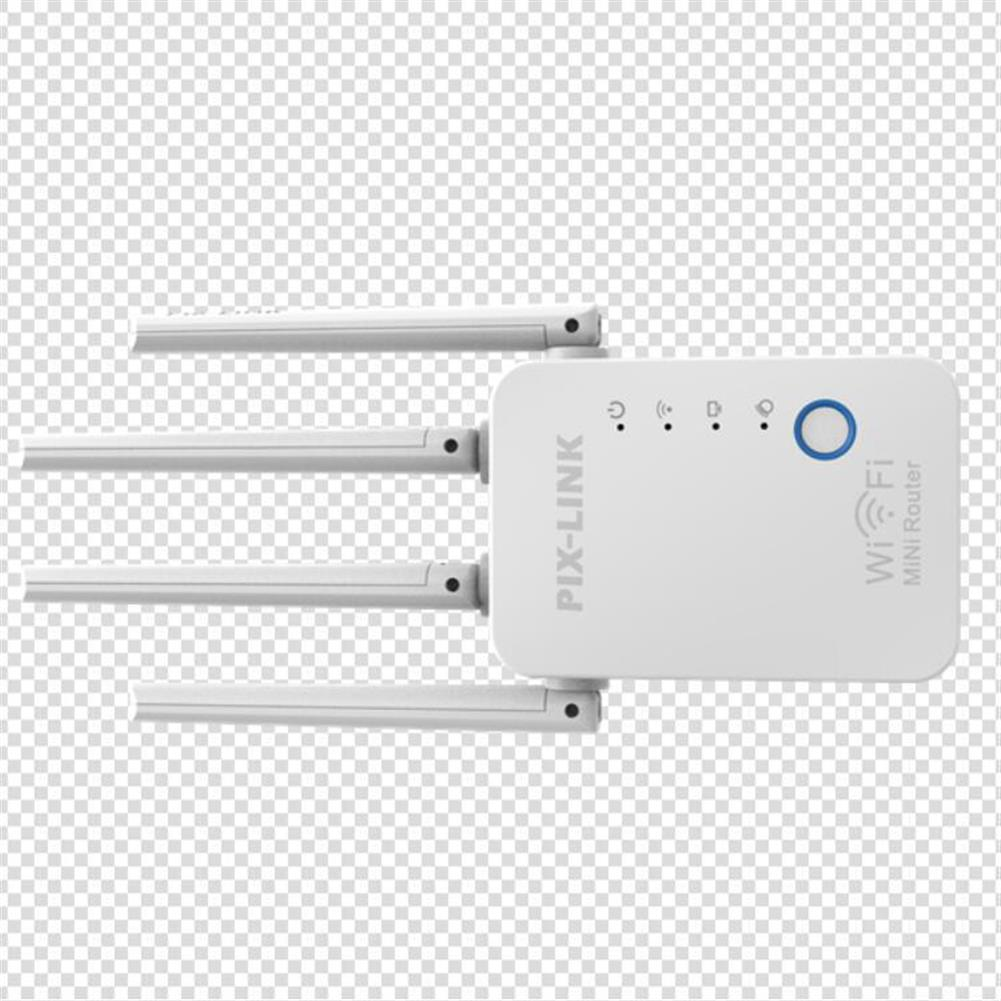 repeaters PIXLINK 300M Wireless WiFi Repeater WiFi Extender 4 Antennas WPS WIFi Range Extension HOB1837760 1 1