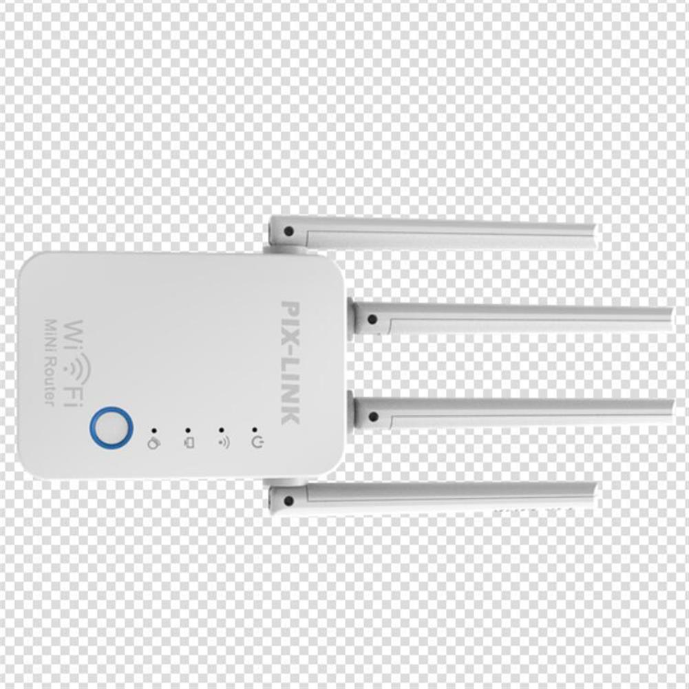 repeaters PIXLINK 300M Wireless WiFi Repeater WiFi Extender 4 Antennas WPS WIFi Range Extension HOB1837760 2 1